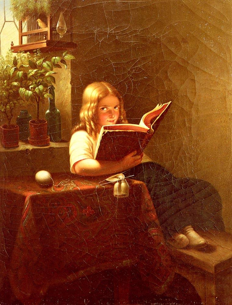 Johann Georg Meyer von Bremen - The reading girl