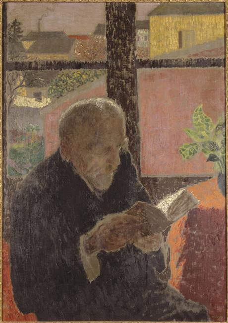 Oude man bij een raam, Yves Trevedy