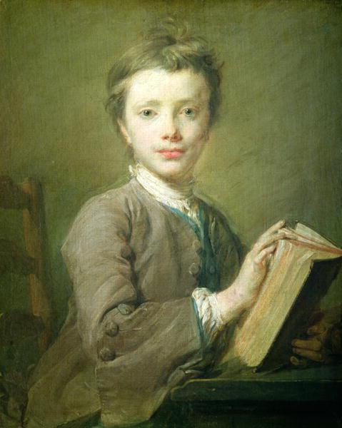 Jean-Baptiste Perronneau  - A Boy with a Book