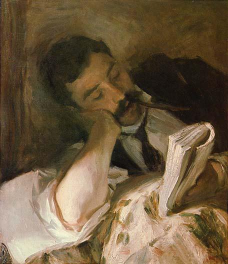 John Singer - Man Reading