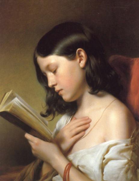 Franz Eybl - Girl Reading