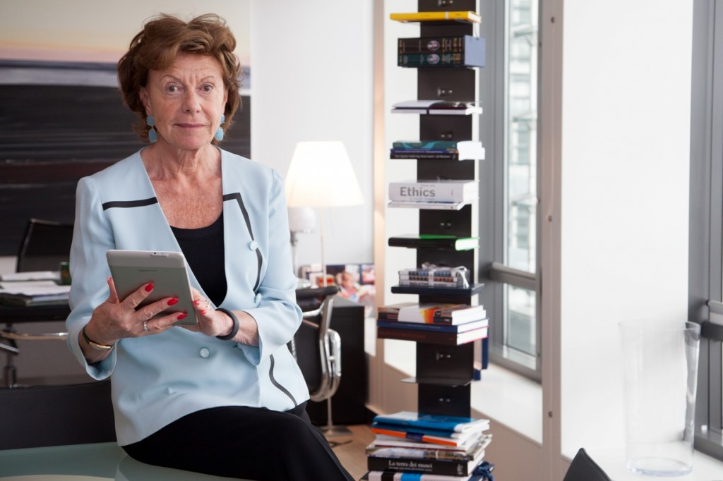 Neelie Kroes , Vice-President of the EC in charge of Digital Agenda poses for a portrait.